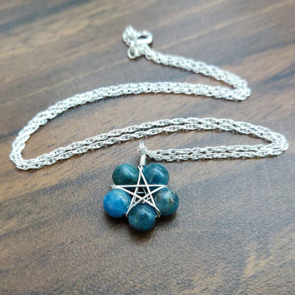 Apatite Pentagram Necklace