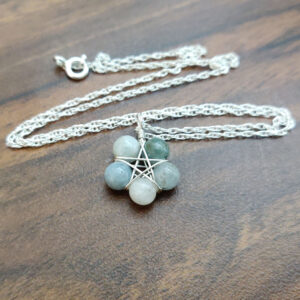 Aquamarine Pentagram Necklace