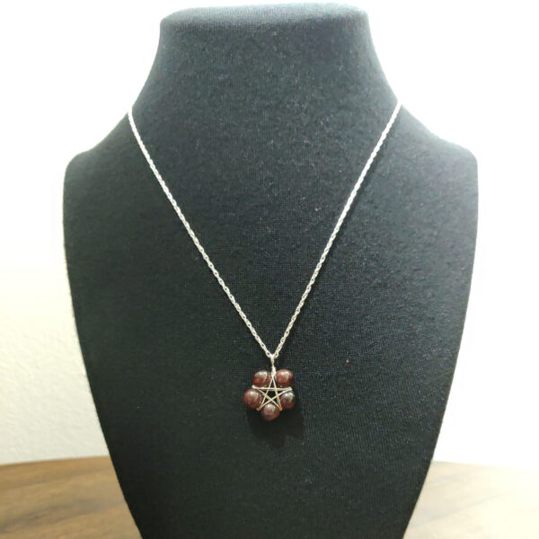 Garnet Pentacle Necklace
