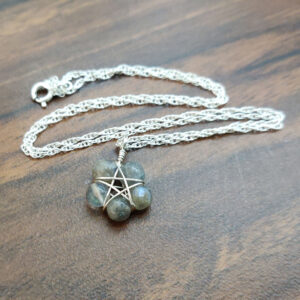 Labradorite Pentagram Necklace