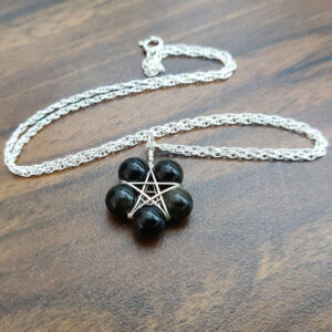 Obsidian Pentagram Necklace