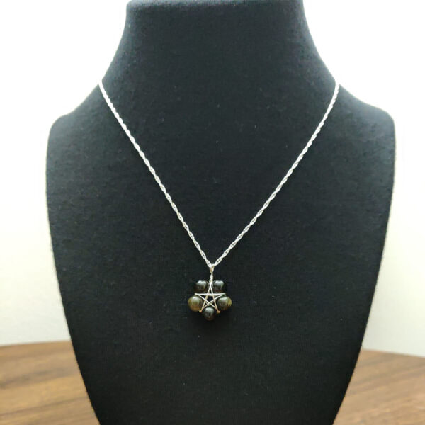 Obsidian Pentacle Necklace