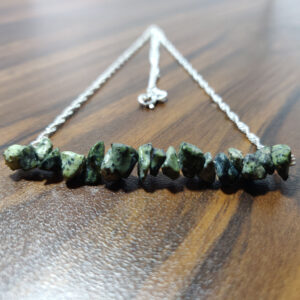 Serpentine Silver Bar Necklace