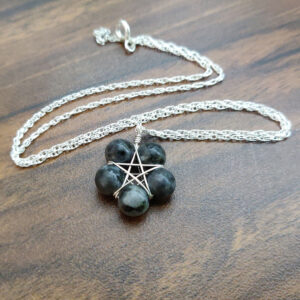 Larvikite Pentagram Necklace